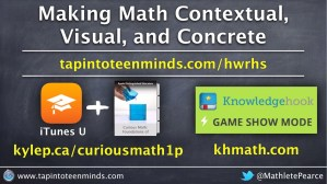 Making Math Contextual, Visual and Concrete - Hamilton Wenham Regional High School