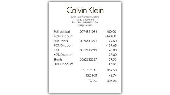 Calvins Clearance - Act 3 - Receipts 3