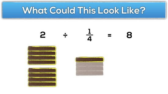 Gimme a Break Dividing Fractions - 2 divided by 1:4