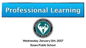 Essex Public School Based Learning SBL Day