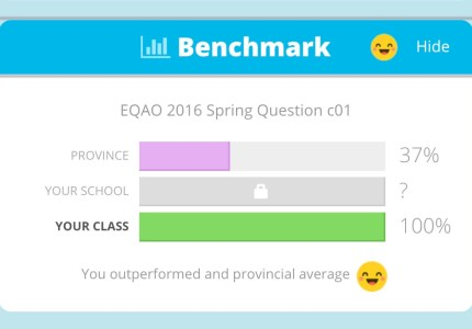 Knowledgehook Gameshow EQAO Benchmark Tool Free