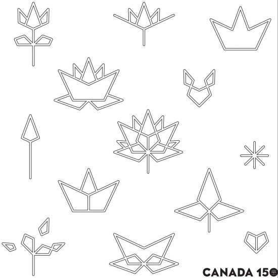 Canada 150 Activity Centre Colouring Page