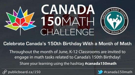 Canada 150 Math Challenge #Canada150Math