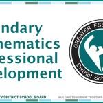 GECDSB Secondary Math Department Heads Professional Development