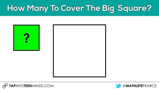 Cover It Up! K-4 Task 02 - How many small squares to cover the big square