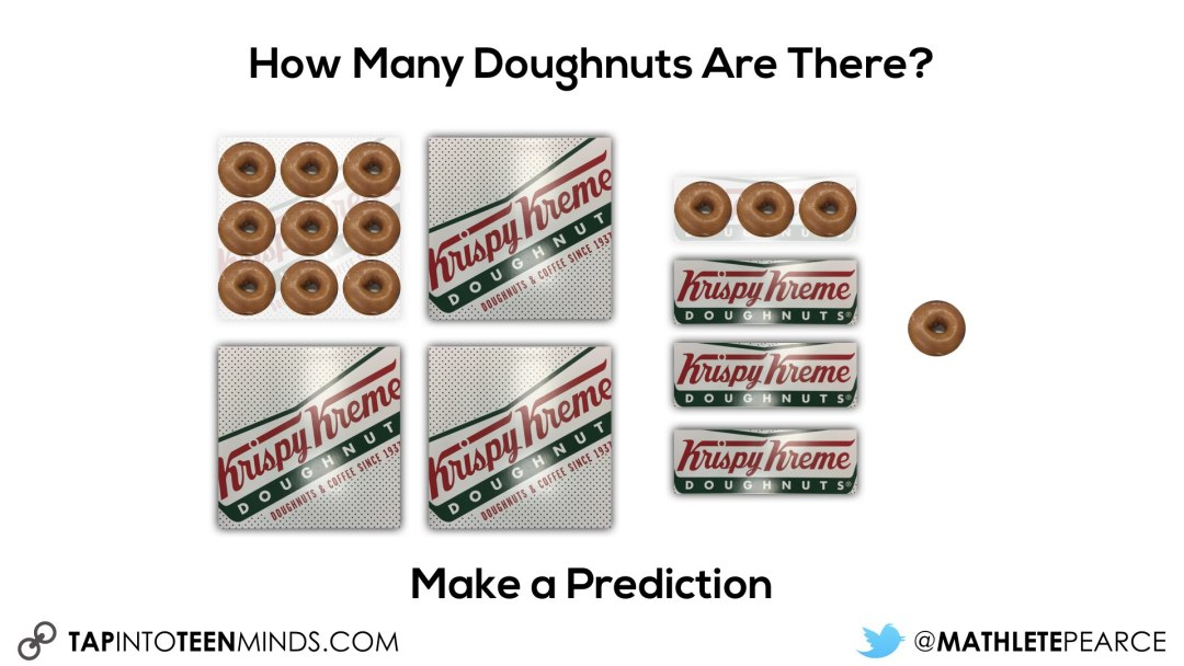 Showing how many doughnuts in each box
