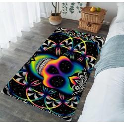 tapis tete de mort multicolor