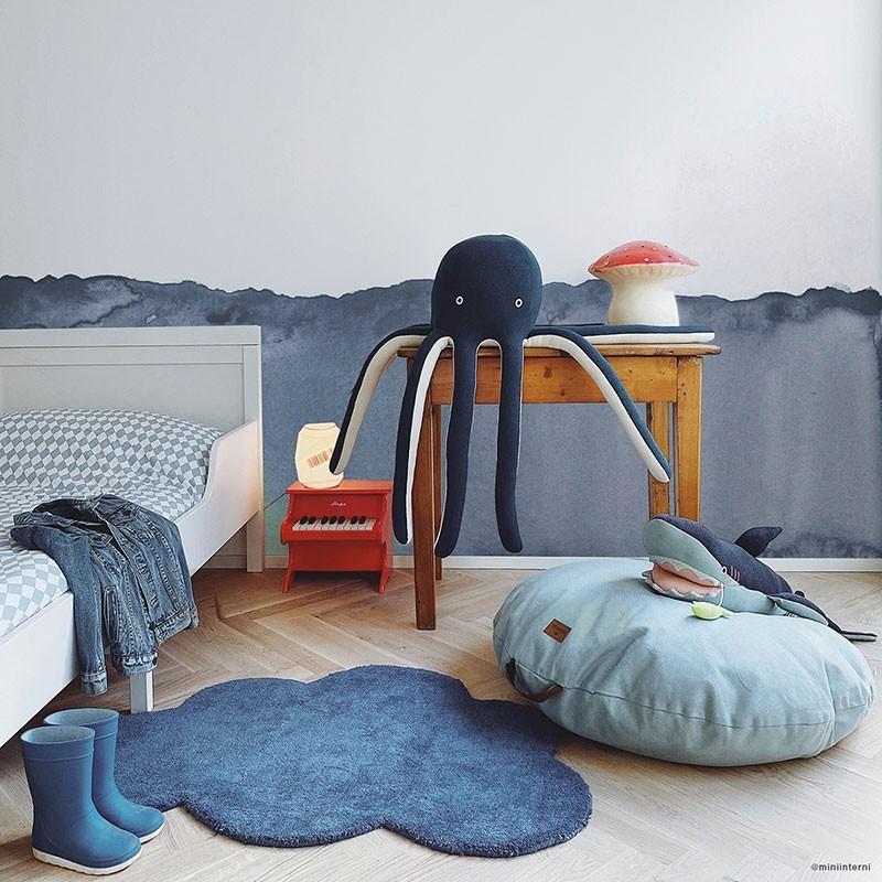 tapis nuage bleu marine chambre bebe garcon par lilipinso