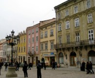 L'viv has lots of pretty buildings & lampposts