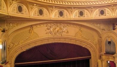 Inside Kyiv National Opera Theatre -- organs on both sides