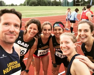 Pre-race selfie with the other Heathsiders in my heat