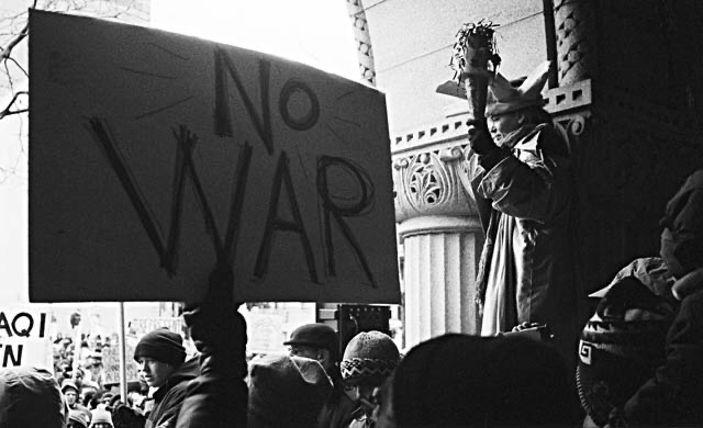 Peace March and Rally, Milwaukee, Wisconsin – February 15, 2003 By George Lottermoser
