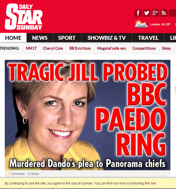 Image result for jill dando bbc paedo ring