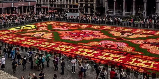 le tapis de fleur of brussels belgium