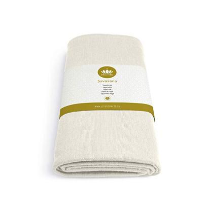 coperta yoga Savasana cotone bio 5mm lotuscraft bianca