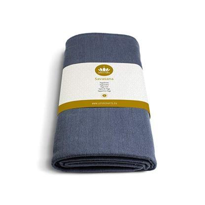 coperta yoga savasana cotone bio 5mm lotuscraft blu