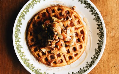Fluffy Buttercup Winter Squash Waffles