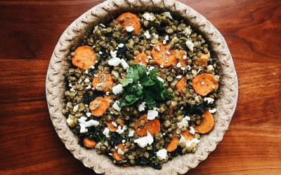 Savory Lentil, Carrot and Kale Pie
