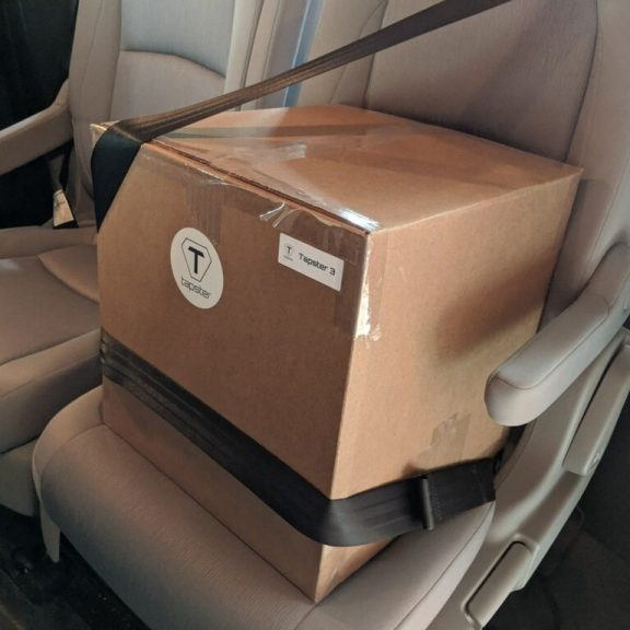 Tapster robot being delivered to Orthogonal team for use in medical device testing
