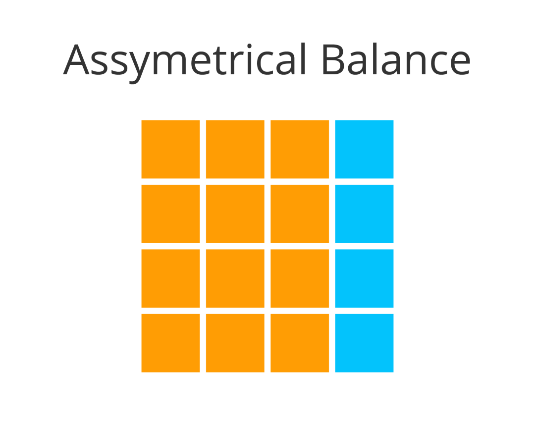 UX portfolio and asymmetrical balance
