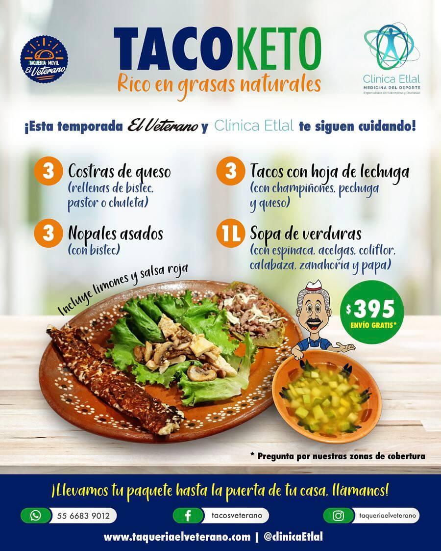 Paquete TacoKeto rico en grasas naturales
