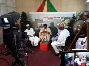 Gov. Ishaku at Taraba Television Studio
