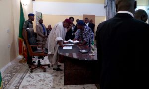 Gov. Darius Ishaku during swearing in ceremony HOS and Others