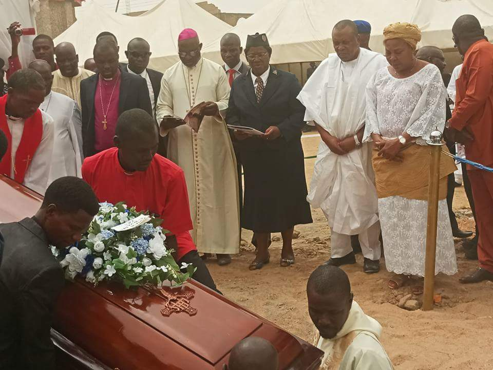 The Remains of Late Rev. Dr. Ben Ubeh being laid to rest