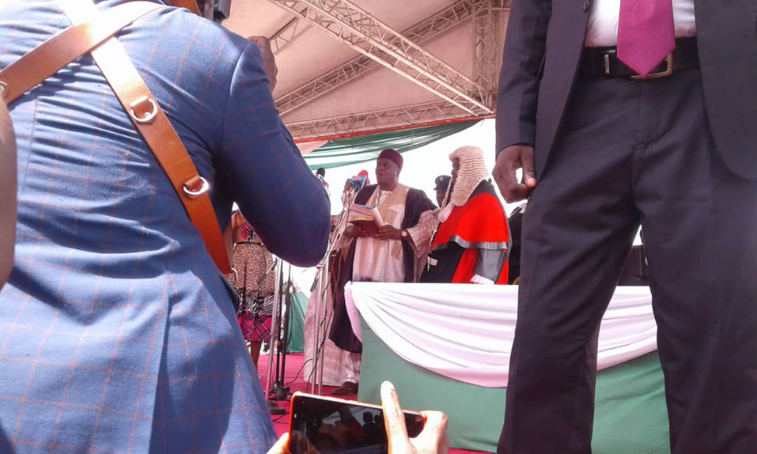 Gov. Ishaku, Deputy Take Oath of Office, Extends Olive Branch to Opposition