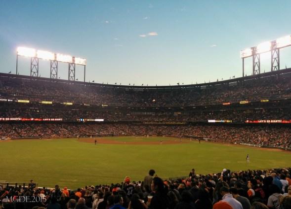 Giants vs Padres game...Giants won! :D