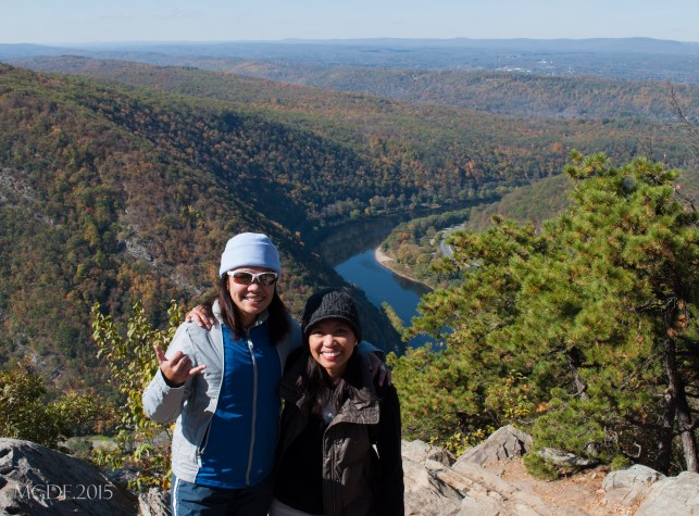 Me & Mayen taking a photo break at Mt. Tammany Summit.