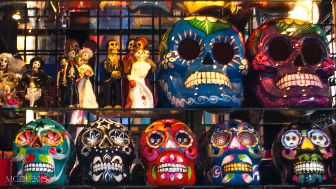 Day of the Dead souvenir items, symbol for the unity of life and death.
