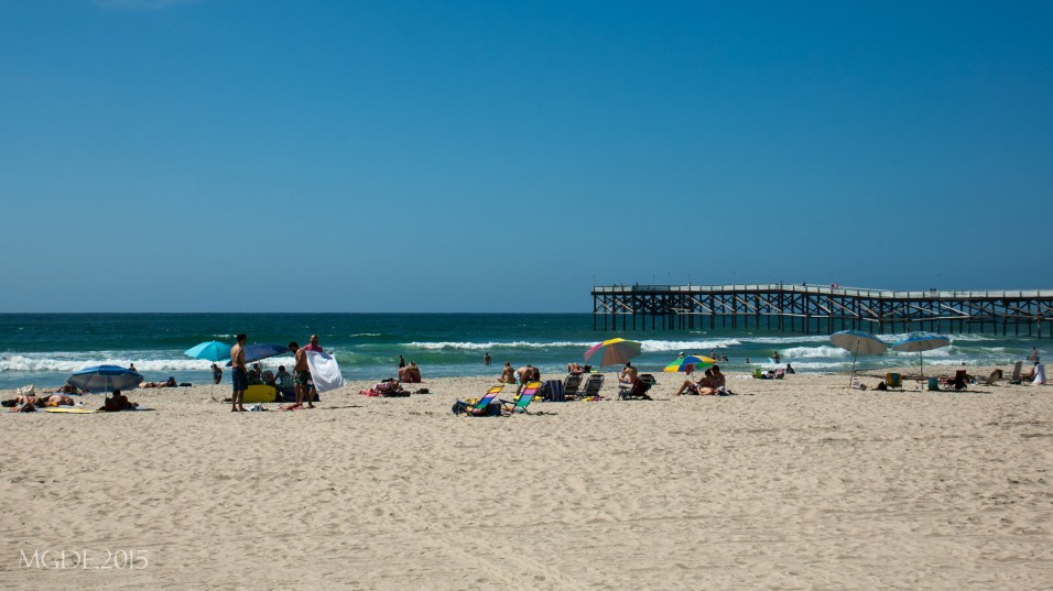 Pacific Beach, Crystal Pier in the distance.
