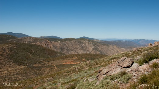 The Pacific Crest Trail on its way north to Canada