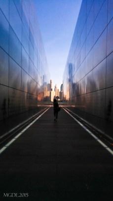 Between walls of Empty Sky.