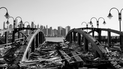 View of Manhattan from the old ferry docks.