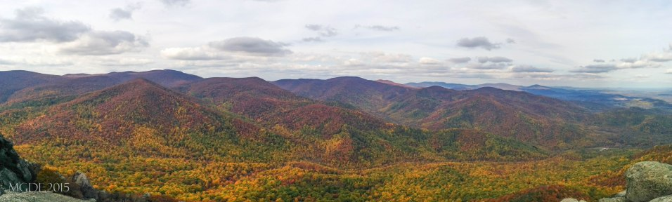 Panoramic view from the summit of Old Rag Mountain