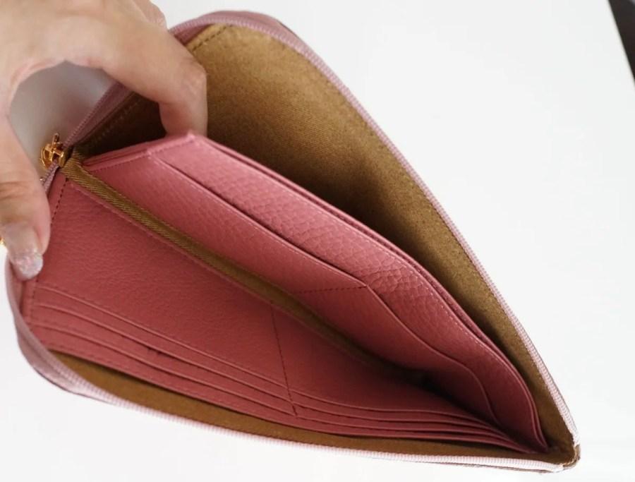 主婦にもATAOの薄くて軽くてコンパクトなL字長財布がおすすめな3つの理由 仕切りなど中身の参考画像