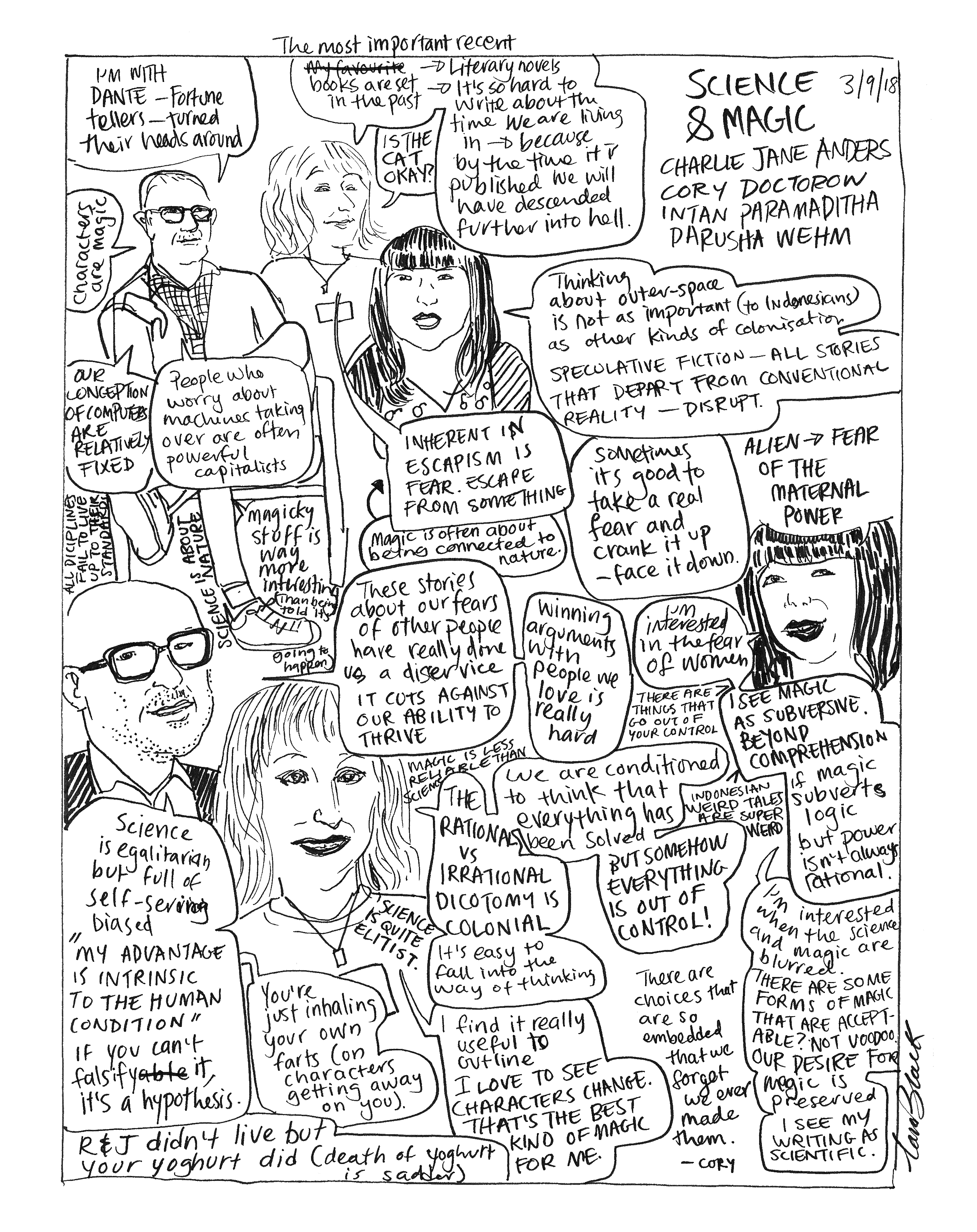 Charlie Jane Anders, Intan Paramaditha and Cory Doctorow