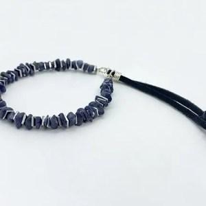 Sapphire Silver Adjustable Bracelet
