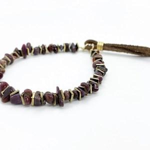 Ruby Gold adjustable slider bracelet