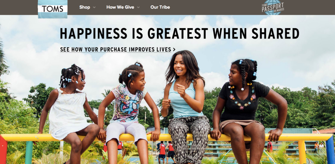 Strategic decision-making: Toms is a give-back-first business, not a shoe business.