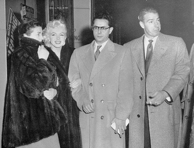 The DiMaggios, Boston, January 1955