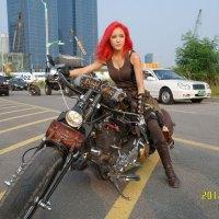 Redhead Biker Hyomin