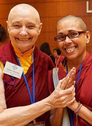 Jetsunma Tenzin Palmo with Tenzin Lekdron