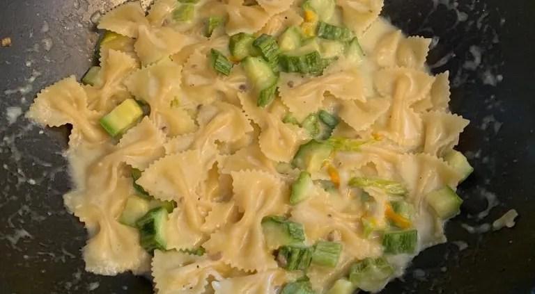 Pasta risottata zucchine e Philadelphia