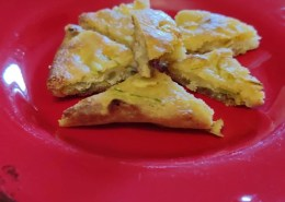 Pizza senza lievito ai fiori di zucca