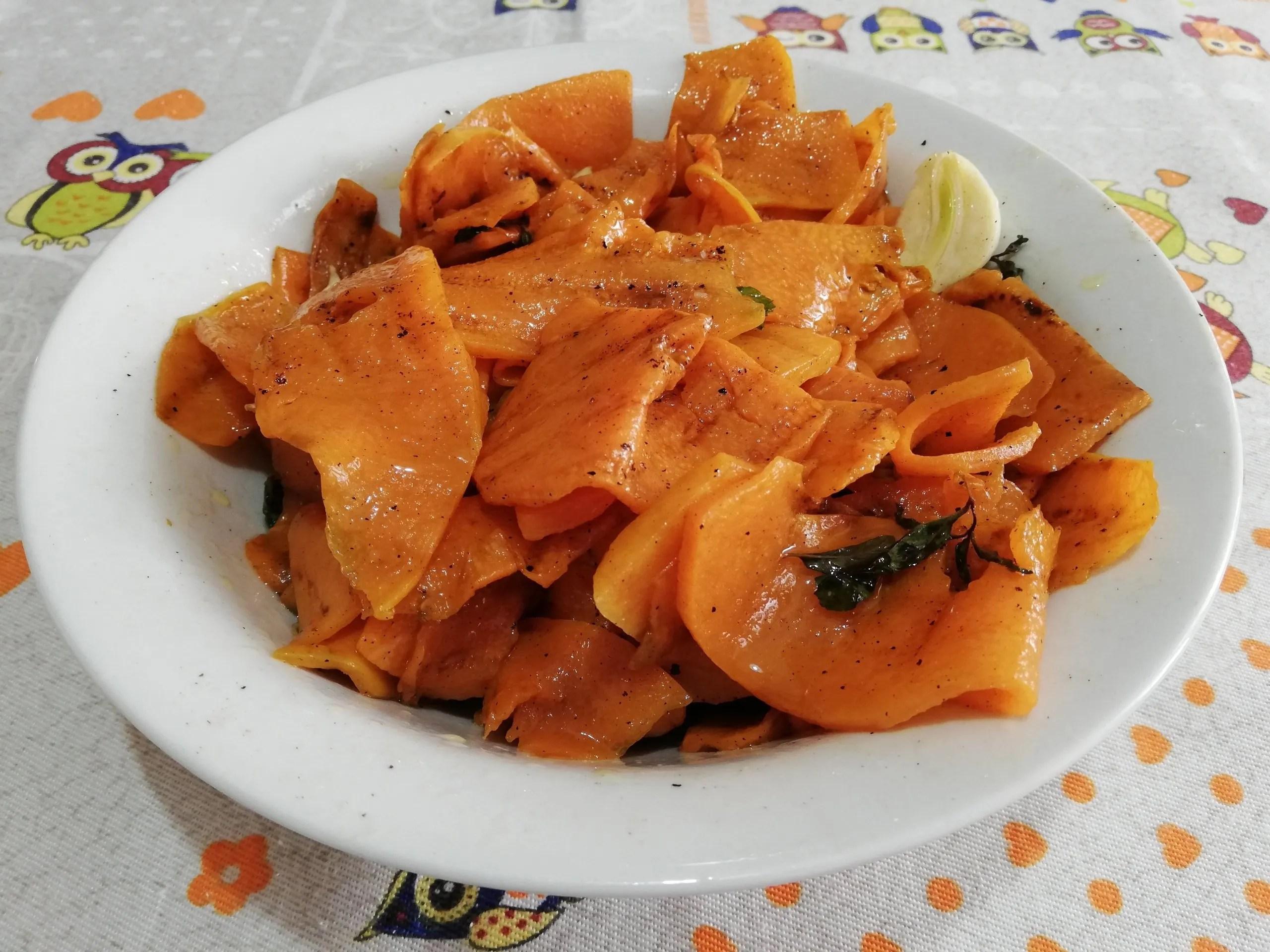 Zucca gialla arrostita