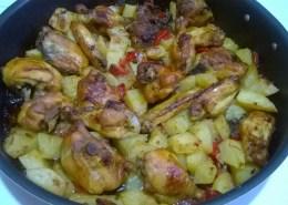 Pollo al pecorino e basilico