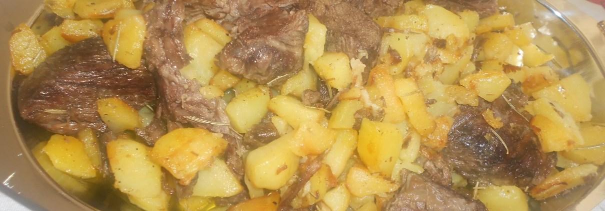 carne da brodo e patate